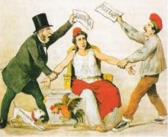 Unitarios y Federales