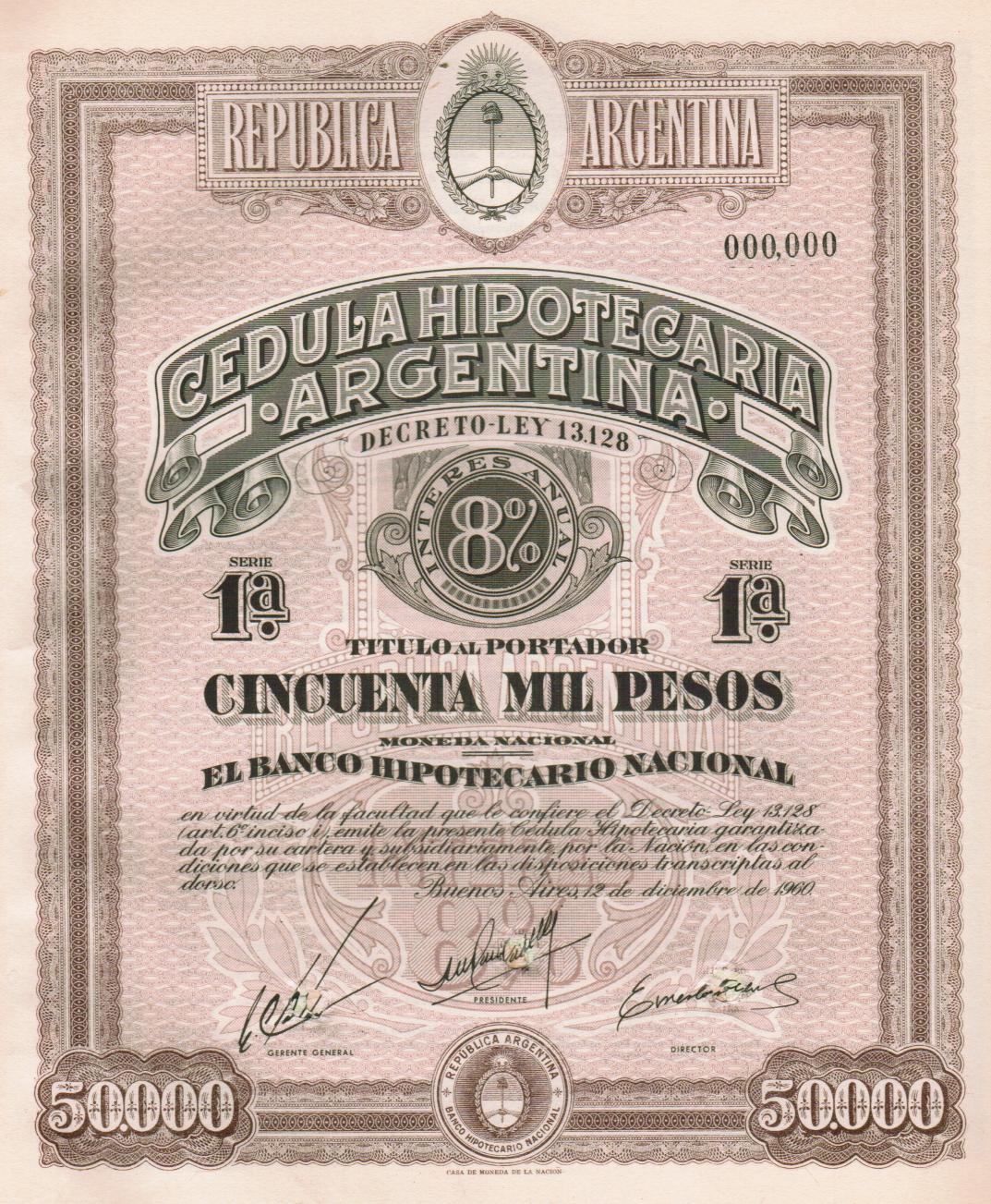 """Resultado de imagen para Cédulas hipotecarias en 1890"""""""